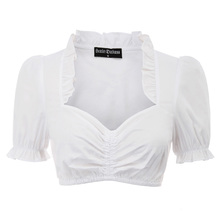 Sexy Women's shirt summer party gothic lolita blouse Short Sleeve Sweetheart Nec
