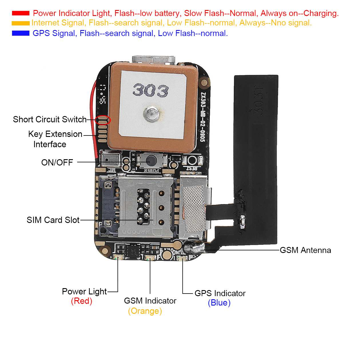 <font><b>ZX303</b></font> Mini <font><b>GPS</b></font> Tracker Positioner Module <font><b>GPS</b></font> AGPS LBS WIFI Multiple Web APP Tracking Locator For Elderly Child Anti-lost tracker image
