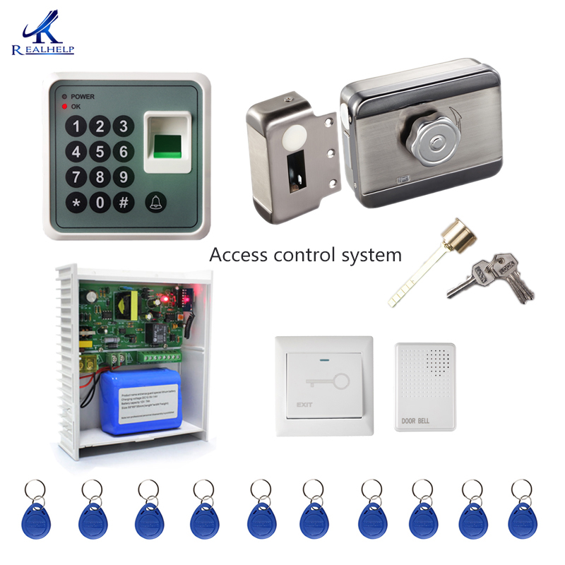 Access control system Kit Home Office Door Lock Electronic Door Release Keypad Biometric Entry Door fingerprint machine S1Access control system Kit Home Office Door Lock Electronic Door Release Keypad Biometric Entry Door fingerprint machine S1