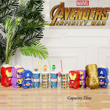 Movie Genuine Avengers 4 Popcorn bucket Hulk Hulk Multi-function Styling Action figure Iron Man Captain America Thanos Coke Cup(China)