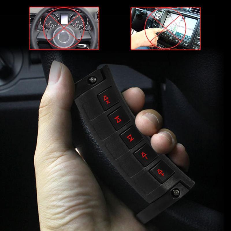 10 teclas Universal multifunción de dirección inalámbrica inalámbrico DVD GPS navegación coche volante Radio Control remoto botones