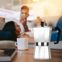 อลูมิเนียม 3/6/9 ถ้วย Moka เครื่องมือเตา Espresso Latte Percolator ชากาแฟ Percolator กรองกด Plunger