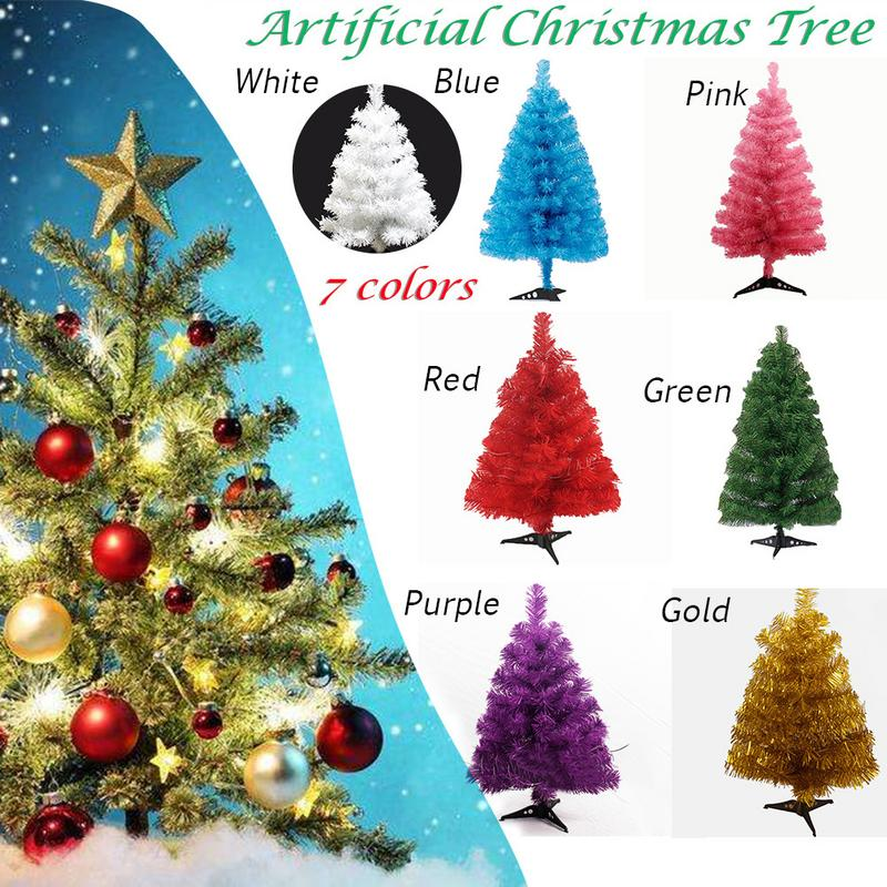 Popular 60cm Artificial Christmas Tree Snowflake Xmas Plastic Tree New Year Home Ornaments Desktop Decorations Christmas Tree
