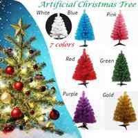 Xmas-tree 60cm Artificial Christmas Tree Snowflake Xmas Plastic Tree New Year Home Ornaments Desktop Decorations Christmas Tree