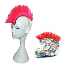 Colorful Cockscomb Modeling Wig Halloween Motorcycle font b Helmet b font Wig Chemical Fiber Mohawk Mohicans