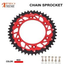 Chain Rear Sprocket 44 45 46 47 48 49 50 51 52 For HONDA XR250 CR250 CRF250X CRF250R XR400 CRF450R CRF450X CR500 XR650R CRM 520 pitch 122 link heavy duty o ring motorcycle chain for honda cr125 cr250 cr500 crf230 crf250 crf450 xr250 xr400 xr600 xr650