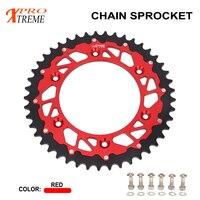 Chain Rear Sprocket 44 45 46 47 48 49 50 51 52 For HONDA XR250 CR250 CRF250X CRF250R XR400 CRF450R CRF450X CR500 XR650R CRM