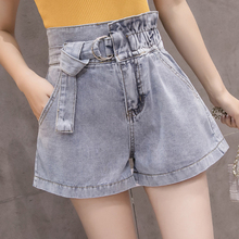 Summer High Waist Denim Shorts For Women Vintage Sexy Blue Jeans Cowboy Feminino