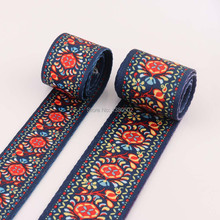 2yards Colorful Chinese Style 38/50mm Polyester /Cotton Webbing Ribbon Strap Dog Collar Backpack Bag Parts