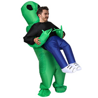 Inflatable Toy Pick Up Alien Costumes Cosplay Party Prop Toy Cosplay Costume Fan Operated Fancy Outfit Halloween Inflatable Toy
