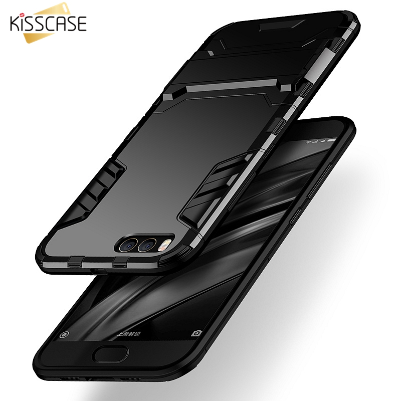 KISSCASE Shockproof Armor Case For Redmi 4X 5A 5 Plus Note 5 Full Protective Case For Xiaomi Mi8 SE Mi A1 A2 Mix 2S Stand Cover in Phone Bumpers from Cellphones Telecommunications