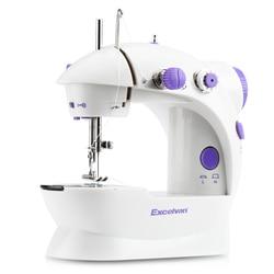 Mini Sewing Machines EU Plug Dual Speed Double Thread Electric Automatic Stitching Rewind Sewing Machine Needlework30