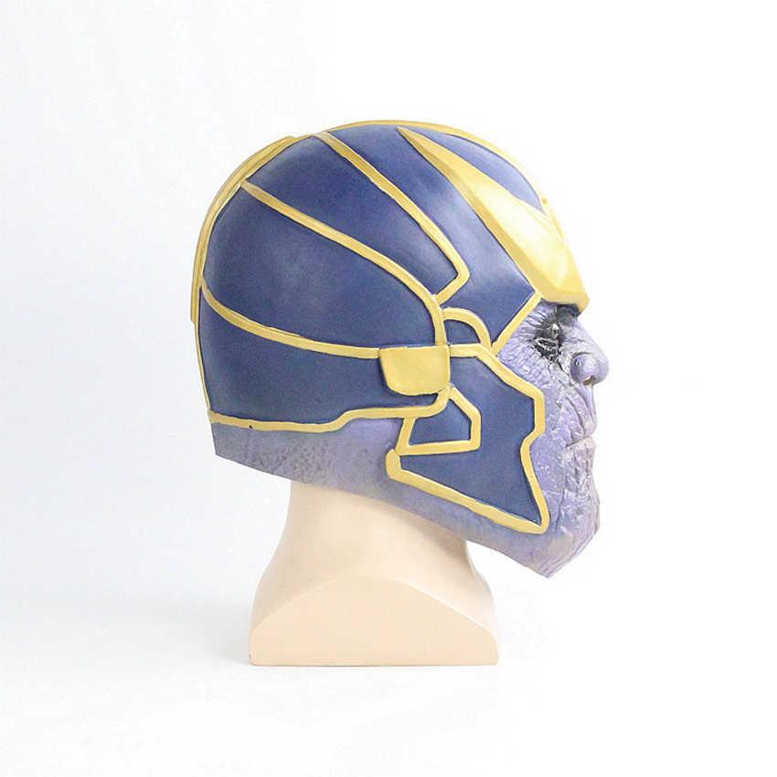 Người đàn ông Cao Cấp Avengers Endgame Thanos Vô Cực Nhẹ Mặt Nạ Găng Tay với Viên Đá Trang Trí Trang Phục Hóa Trang Cao Su Halloween Đạo Cụ