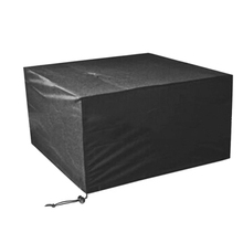 Heavy Duty Square Black Fire Pit Cover Outdoor Garden Dustproof Waterproof Table Furniture