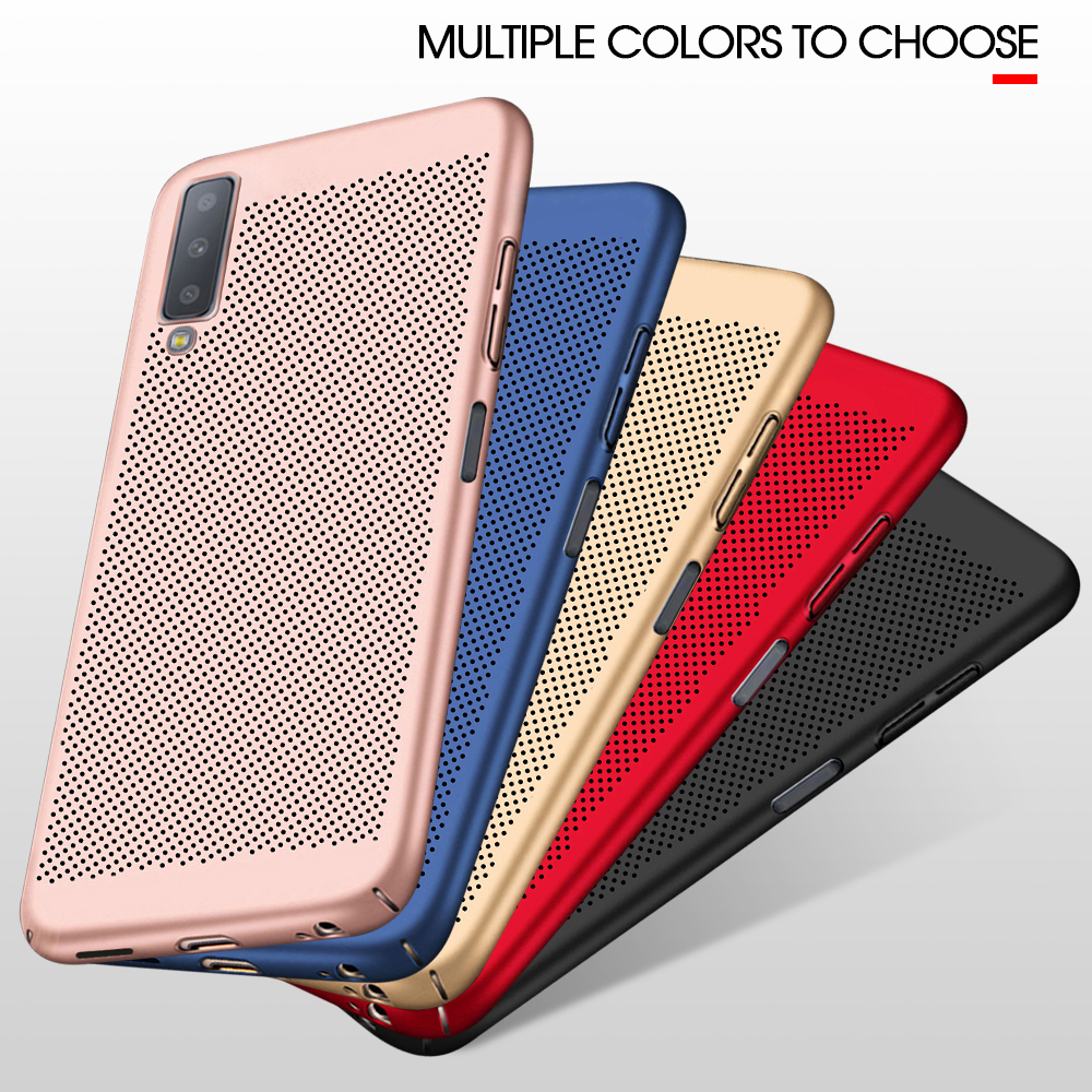 For S10 Plus S10 E Case Hard PC Heat Dissipation Cover For Samsung Galaxy A6 A8 Plus J6 J4 J7 J8 A9S 2018 J5 J7 Prime Capa