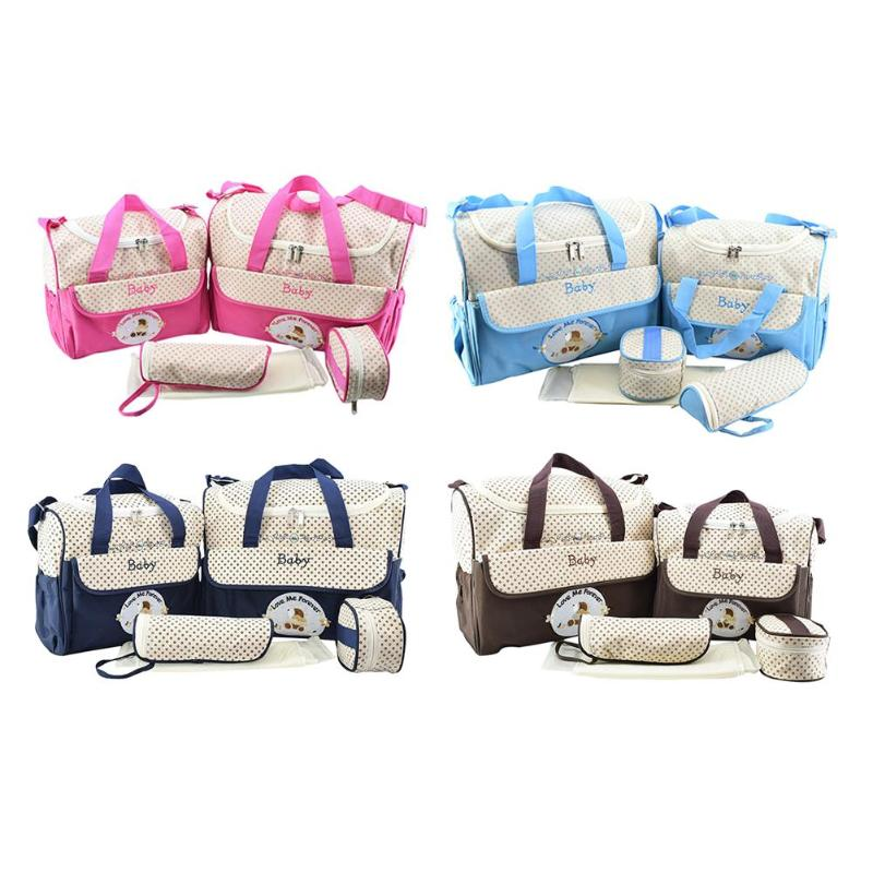 Diaper Bags Mummy Maternity Nappy Bags Large Capacity Multifunction Travel Nappy Bag Organizer Zipper Dispenser Bottle