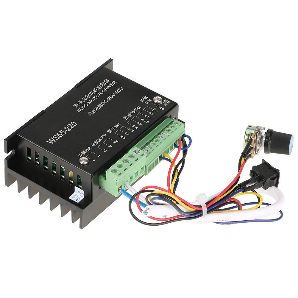 hight resolution of ws55 220 dc motor driver dc 48v 500w cnc brushless spindle 3 phase bldc motor