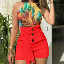 2019 New Summer Women High Waist Shorts Casual Buttom Bandage Beach Hot Size S-XL Ladies Solid color Short Trousers