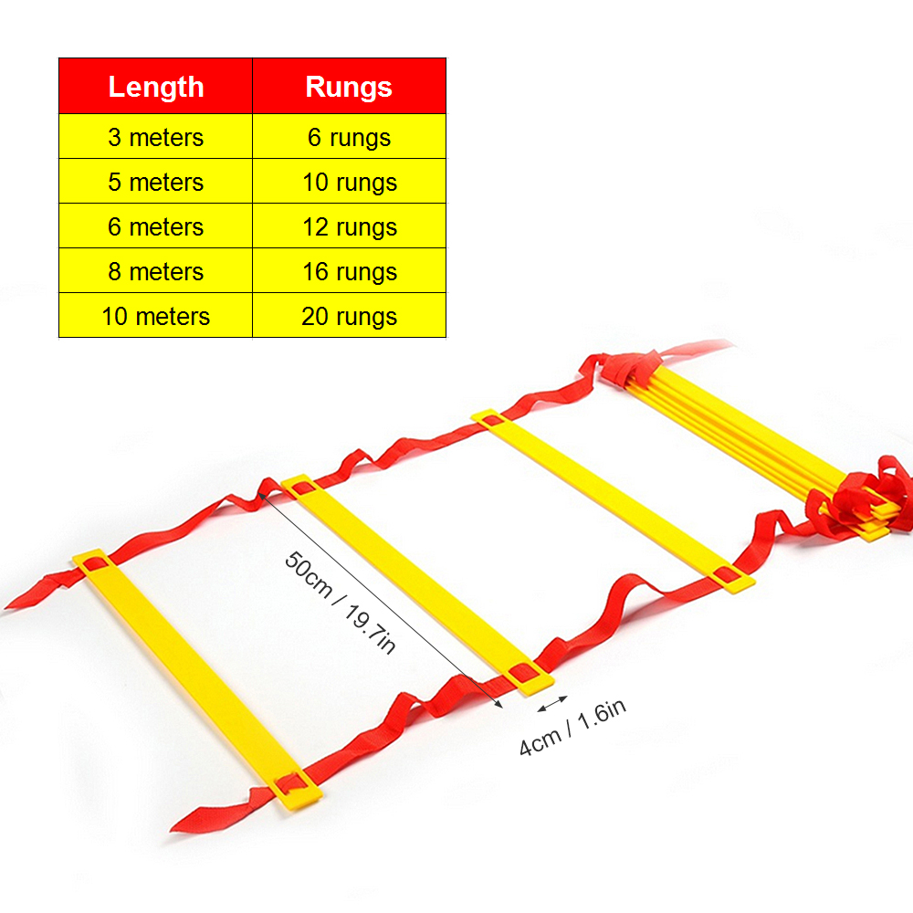 3/5/6/8/10m Agility Ladder Straps Training Ladder Speed Flat Rung With Bag Outdoor Fitness Equipment Soccer Football Training