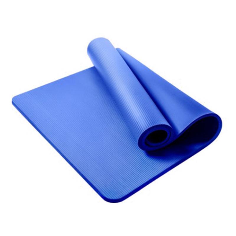 1850x900 cm 15mm Ultra-mince tapis de Yoga NBR épais et insipide tapis antidérapant sport minceur Fitness Pilates tapis Gym exercices