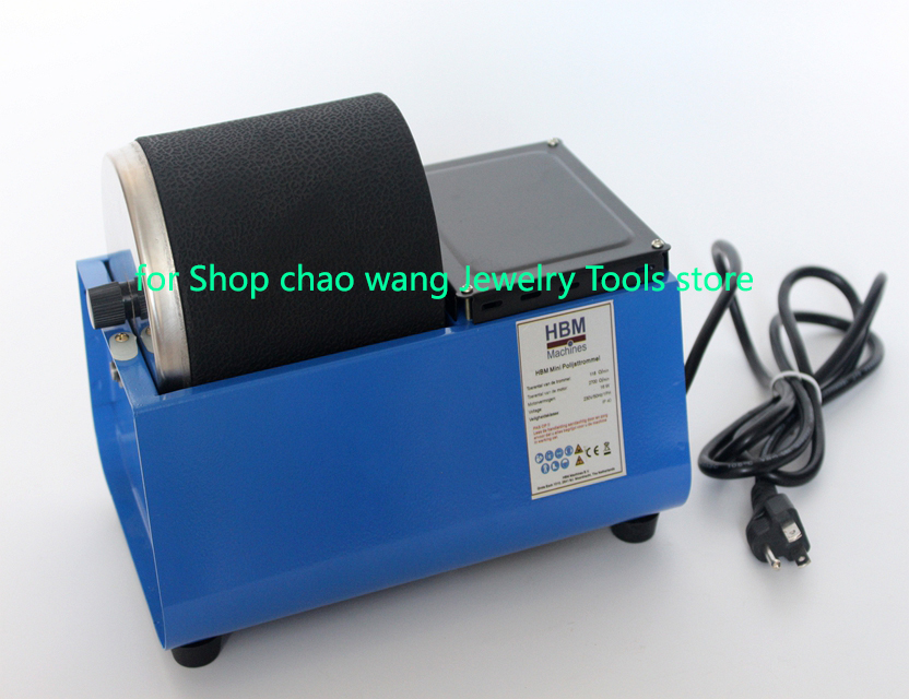 HBM Mini Rotary Polishing Machine Polisher For Jewelry Tools With Rubber Buckets