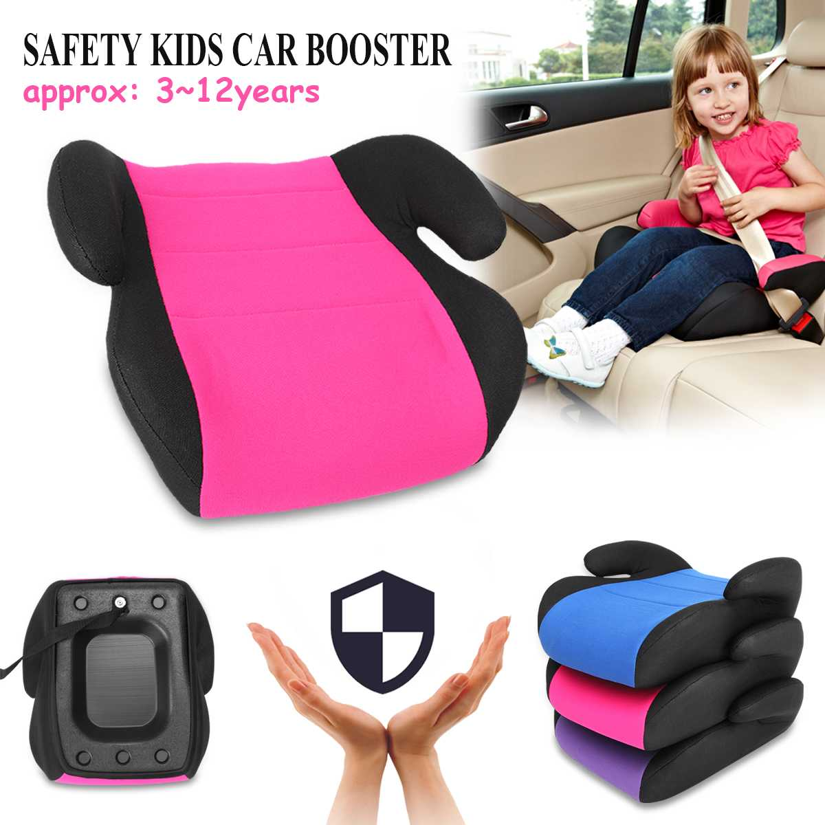 Car 3~12Y Baby Child Safety Car Booster Seat Multi-Function Thicken Chairs Cushion For Child And Kids In Portable Travel Kids