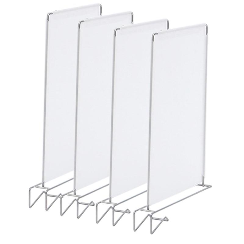 4Pcs Closet Divider Shelf Space Saving Shelves Wire Design