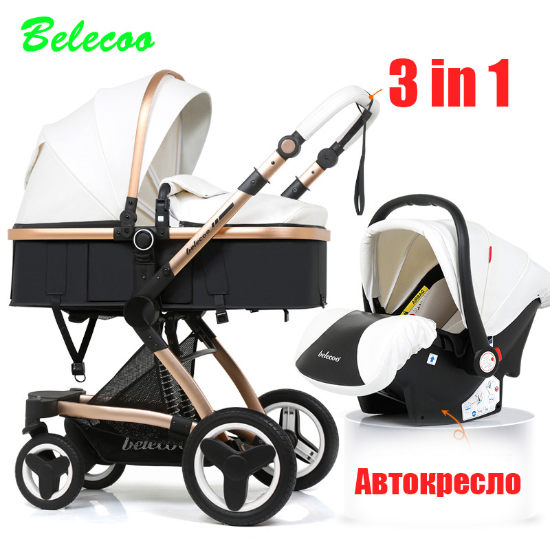 Belecoo Stroller 3-in-1 Eco Leather Shock Absorber Free ShippingBelecoo Stroller 3-in-1 Eco Leather Shock Absorber Free Shipping