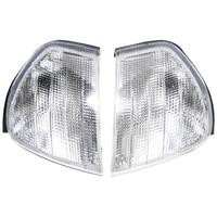 1Pair Turn Signal Indicator Corner Lights Clear Lens Corner Light For Mercedes Benz C Class W202 1994 2000