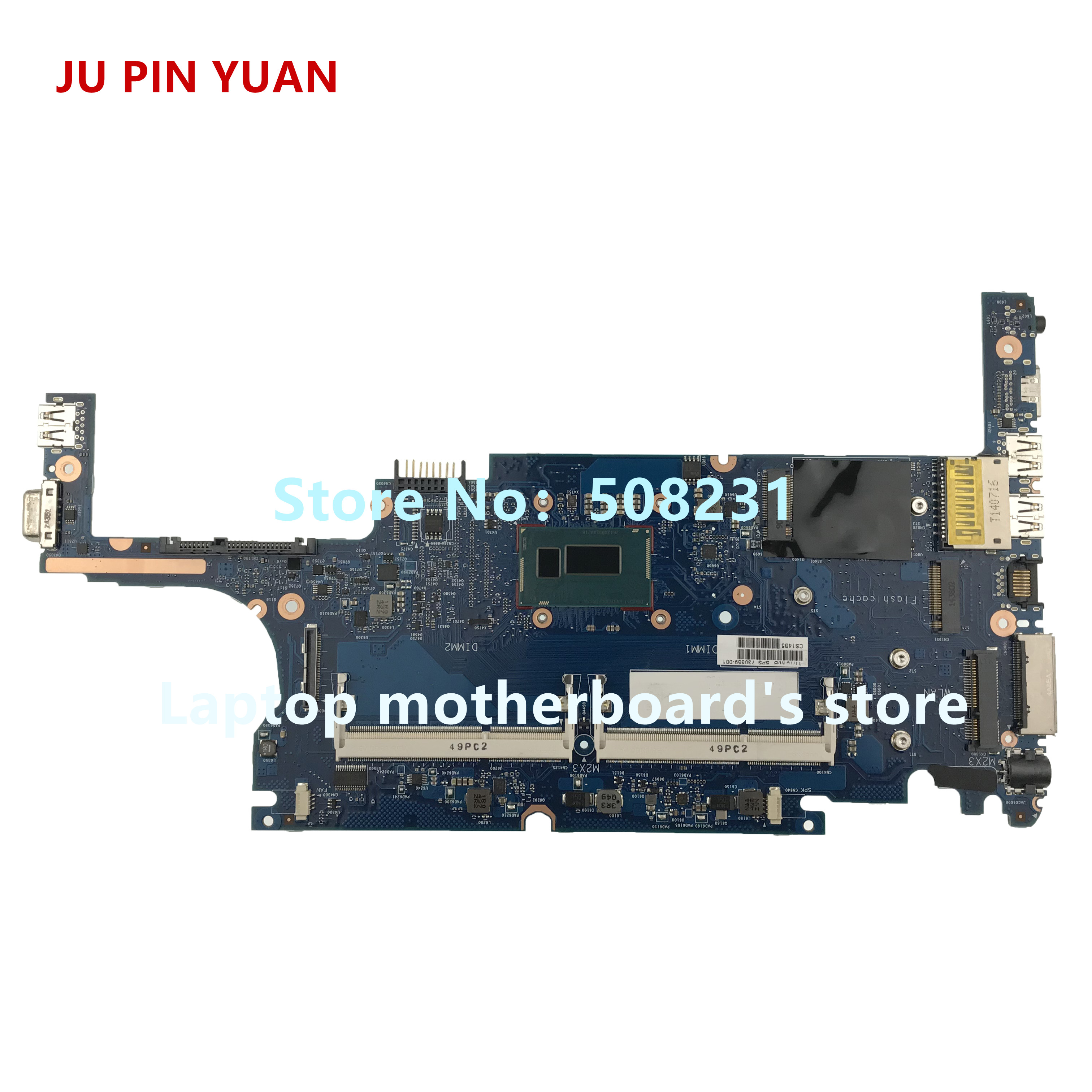 JU PIN YUAN For HP 820 G1 Laptop Motherboard 730559-001 730559-501 730559-601 with <font><b>i7</b></font>-<font><b>4600U</b></font> 100% fully Tested image