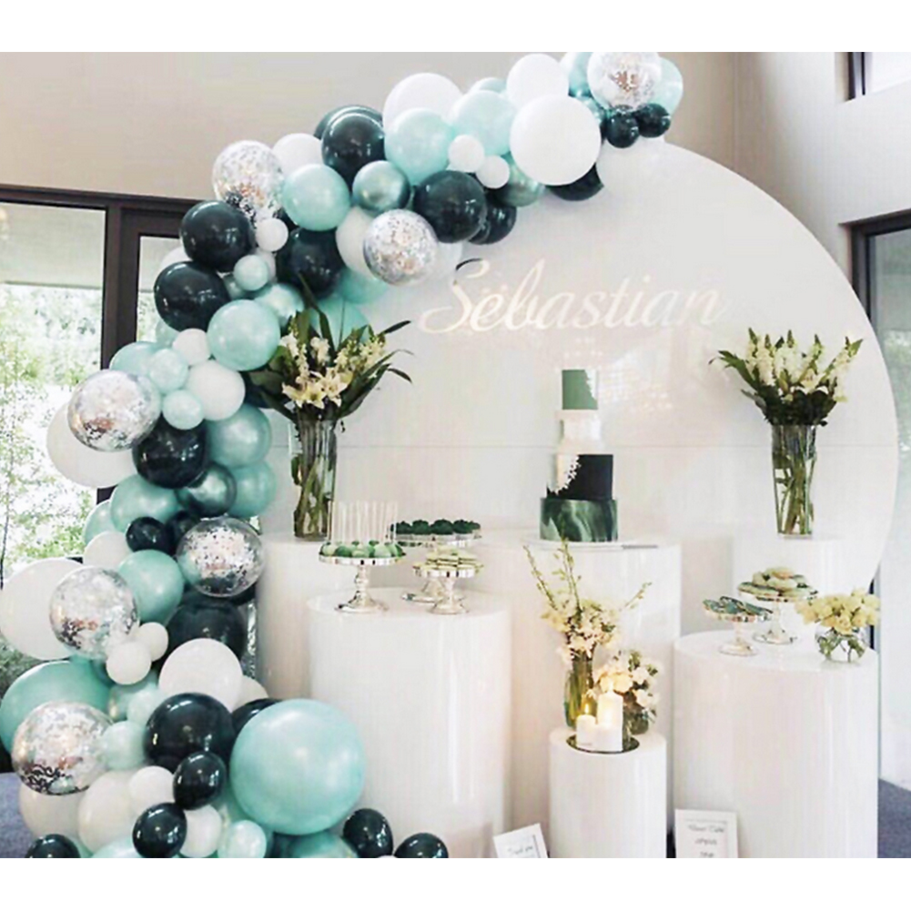 Balloon Decorations For Wedding Reception Ideas: Balloon Chains Set Decoration Romantic 3D Background Wall