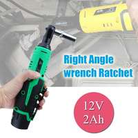 12V Lithium Ion Battery Electric Wrench Professional Right Angle Wrench Ratchet Cordless Chargeable 3/8 inch Right Angle Wrench