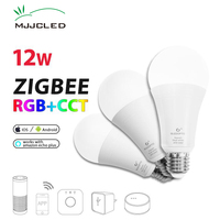 ZIGBEE Glühbirne E27 12 W E26 Zigbee Lampe RGB CCT Dual Weiß Zigbee Licht Link Smart Lampe App Control LED birne AC 110 V 220 V 230 V|LED-Birnen & Röhren|   -