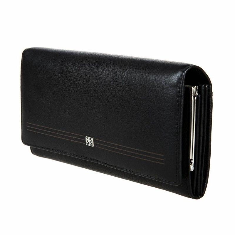 Wallets SergioBelotti 1164 west black 2017 hot selling pu women wallet long purse clutch girl wallets coin card holder zipper change wallets feminina carteira