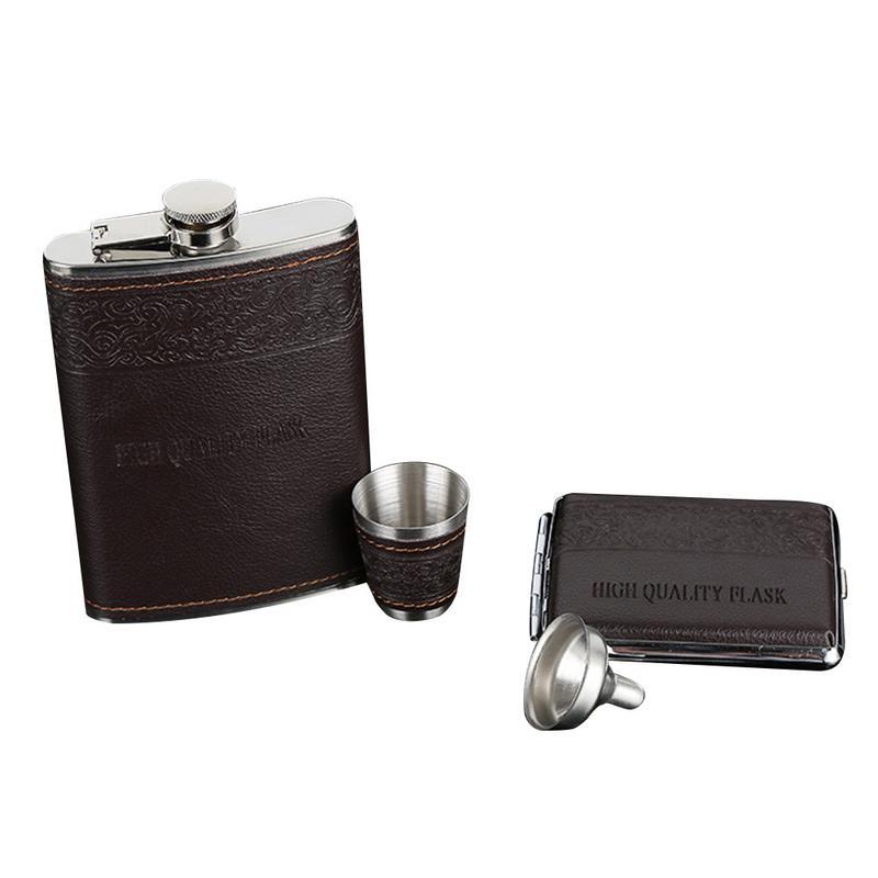 150mm X 95mm X 23mm Draagbare 9 Ounce Roestvrijstalen Heupfles Set Bar Thuis Wijn Container Fles Voor Wijn Bar Accessorries