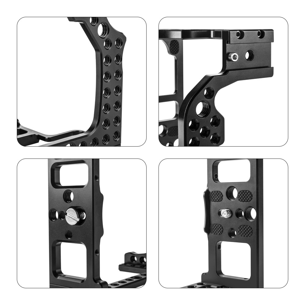 Camera Cage Aluminum Alloy Video Film Movie Rig Stabilizer with Cold Shoe Mount for Magic for Canon EOS R Full Frame ILDC Camera-in Camera Cage from Consumer Electronics    1