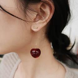 Новые европейские и американские фрукты мода длинные ухо ногтей темперамент вишня серьги-Вишенки Леди Серьги