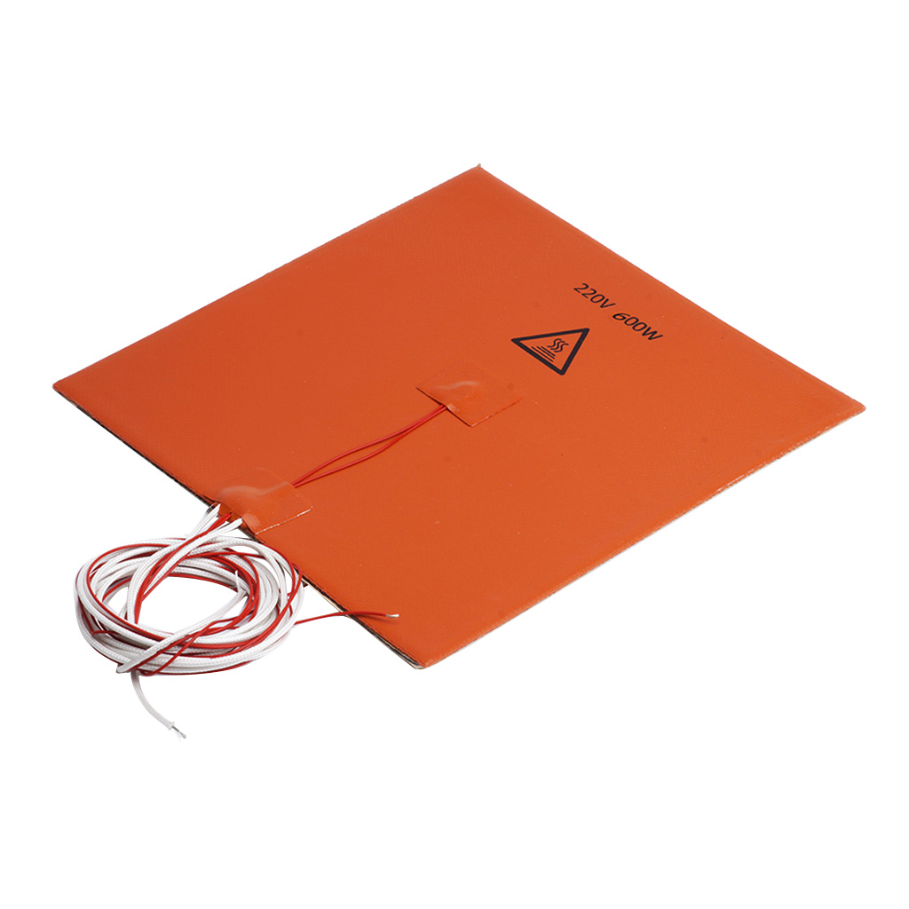 200x200mm 220V 600W Silicone Heater Pad 3D Printer Heated Bed Heating Mat цены