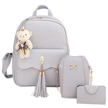 fbcfa82185e1 3 шт комплект корейской моды небольшой школьный рюкзак для школы мешок  милый удобный рюкзак для путешествий
