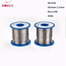 Flux Melt Soldering 41SN Pure Tin 1.5mm 450g Rosin Core Lead Roll Reel  Arame de solda Solder Wire