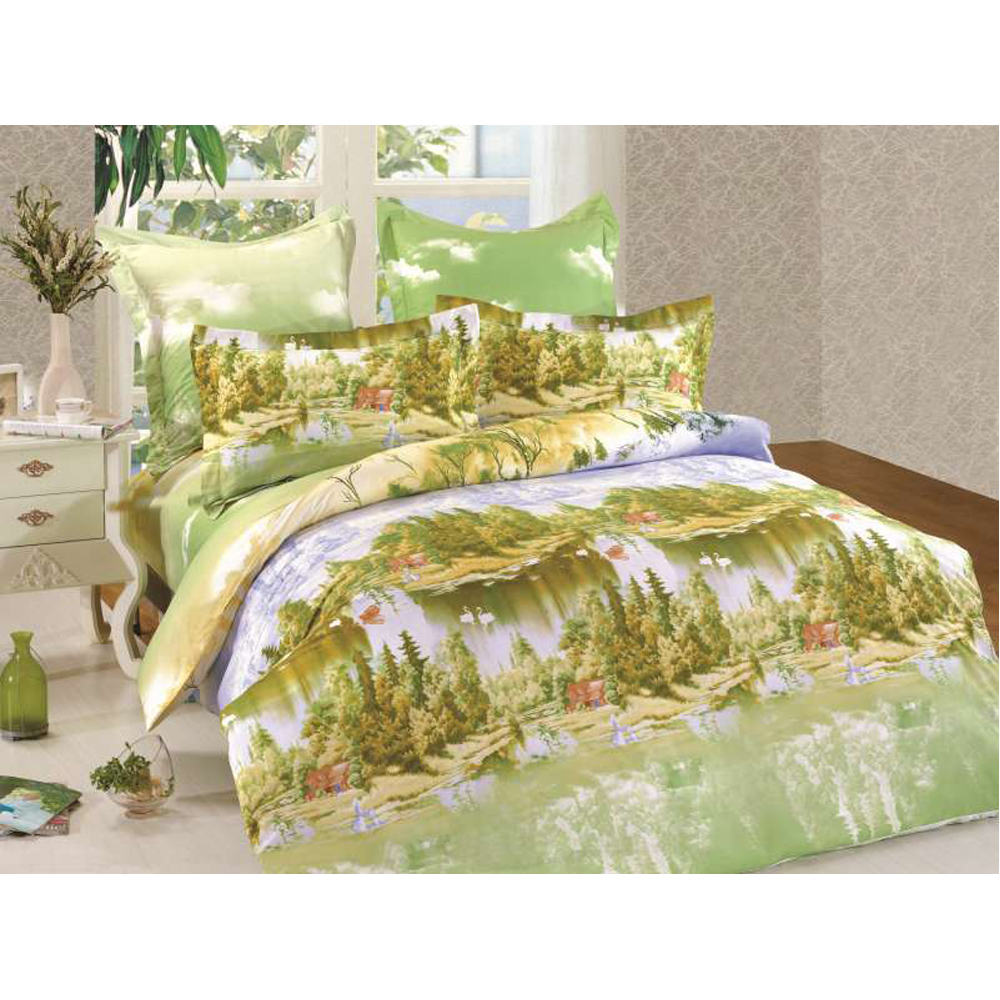Bedding Set SAILID B-135 cover set linings duvet cover bed sheet pillowcases TmallTS colorblock striped print sheet set