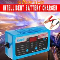 6V 12V Car Battery Charger Full Automatic Intelligent Trickle Fast Van Charging 6V/12V Lead Acid Battery EU/UK/AU Plug LCD