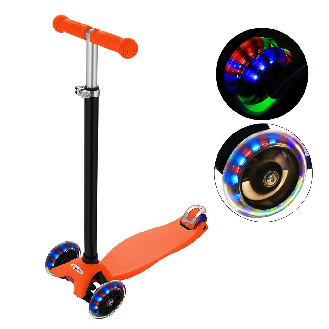 Colorful Flash Roller Scooter Skating cricket New Aluminum Alloy Kick Scooter T Style Handle Bar Best Gifts for Children Kids Bo Самокат