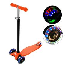 Colorful Flash Roller Scooter Skating cricket New Aluminum Alloy Kick Scooter T Style Handle Bar Best Gifts for Children Kids Bo