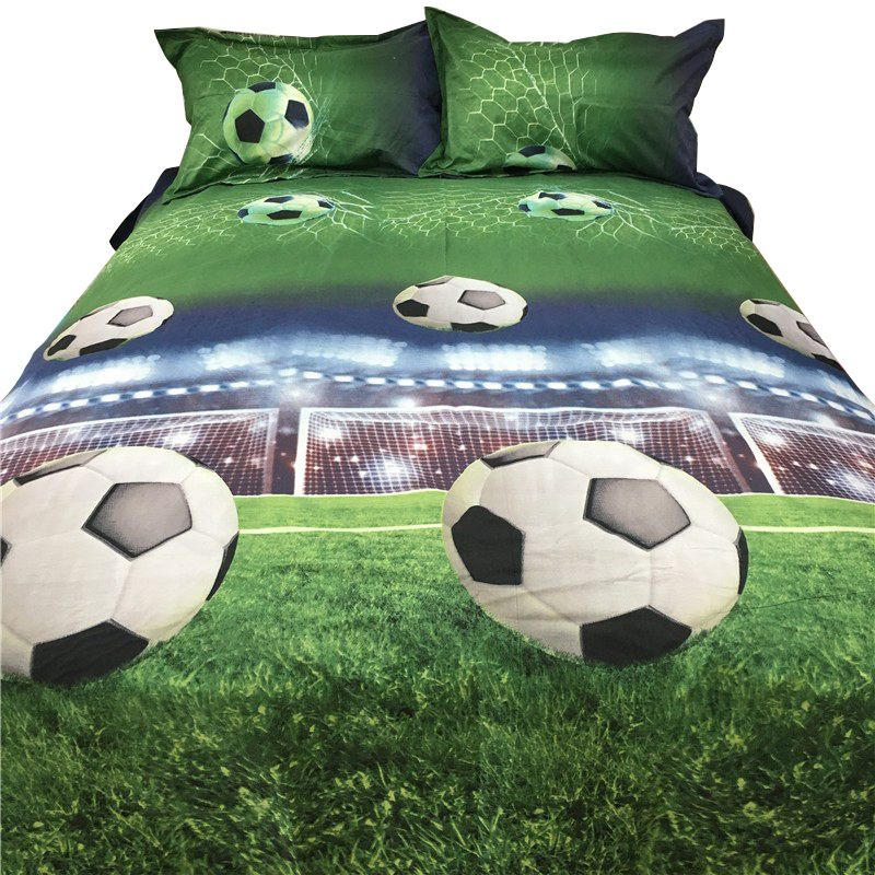 Football Bed Sheets 3D Bedding Sets Quilt Duvet Cover Bed In A Leaf Of Bag Spread BedsPread Bedset Pillowcase Queen Size19
