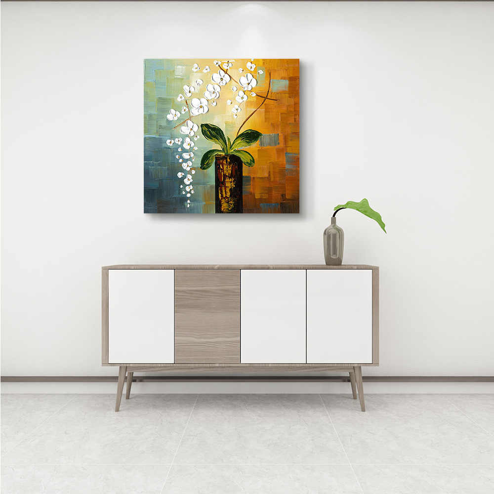 Flower Framed Picture DIY Painting Canvas Painting & Calligraphy Home Decoration For Living Room Wall Art Poster
