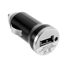 цена на Genuine USB Car Charger Charging Power Adapter Input 12-24V DC Output 5.0V 1000mA For Apple IPod Touch For IPhone 4 3G 4G 4S
