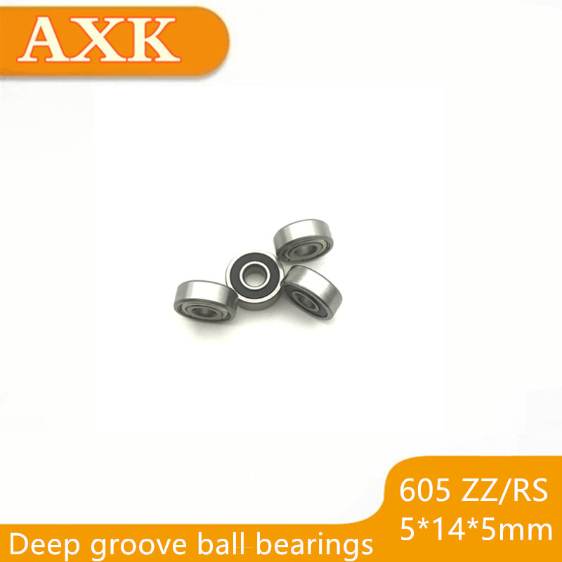 2019 10pcs/lot 605 605zz 605rs 605-2z 605z 605-2rs Zz Rs Rz 2rz Deep Groove Ball Bearings 5 X 14 5mm Abec-5 For Toy/machine image