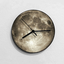 New 3D Wall Clock LED Moon Night Light Remote Control Technology For Home Mute Watch Dropshipping