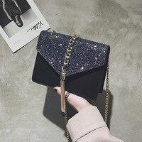 Mini Bead Chain Bag Handbags Women Famous Brand Luxury Women Bag Designer Crossbody Bag for Women 2019 Sparkling Shoulder Bag